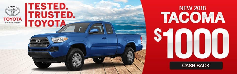 2018 Toyota Tacoma Cash Back Special