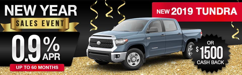 2019 Toyota Tundra Finance or Cash Back Special
