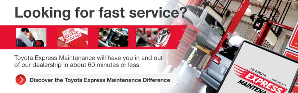 Toyota Express Maintenance Services