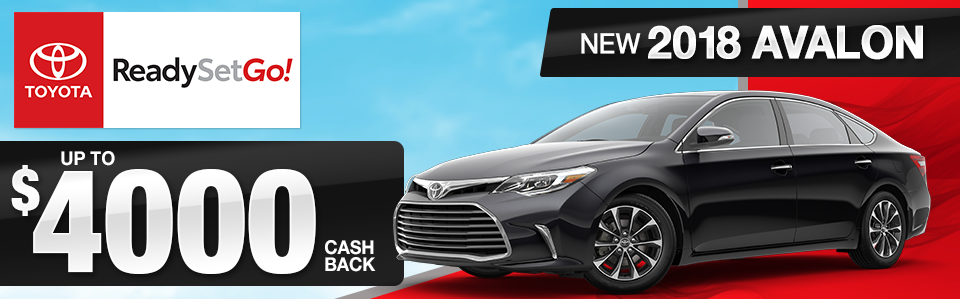 2018 Toyota Avalon Cash Back Offer