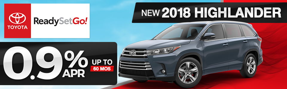 2018 Toyota Highlander Finance Special