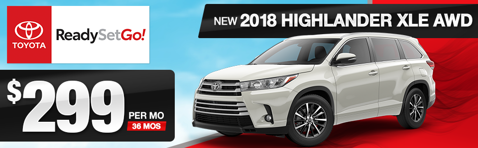 2018 Toyota Highlander XLE Lease Special