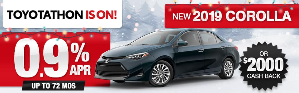 2019 Toyota Corolla APR or Cash Back Special