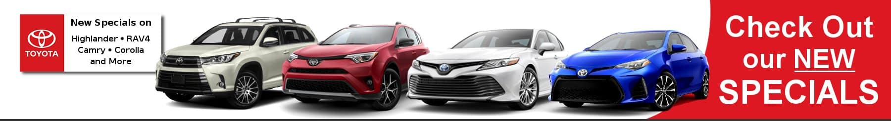 Specials on New Toyota Models