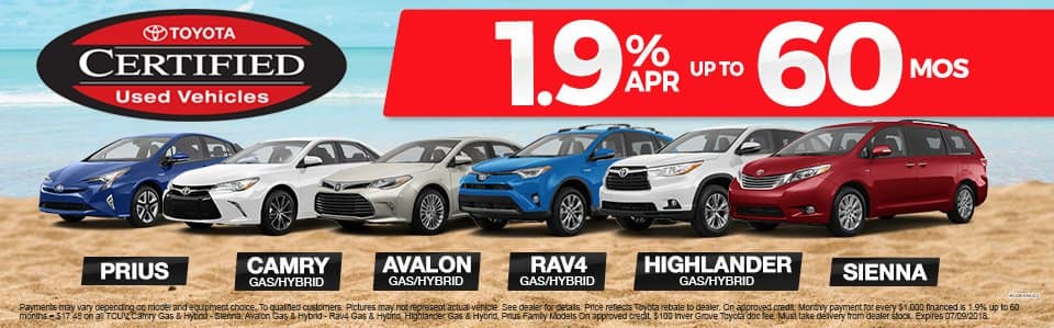 Toyota-Certified-Pre-Owned Vehicles