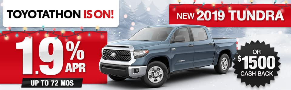 2019 Toyota Tundra APR or Cash Back Special