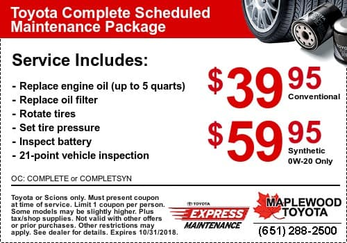 Coupon Toyota Oil Change Specials