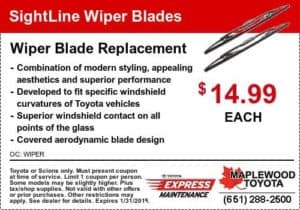 service coupon wiper blade replacement