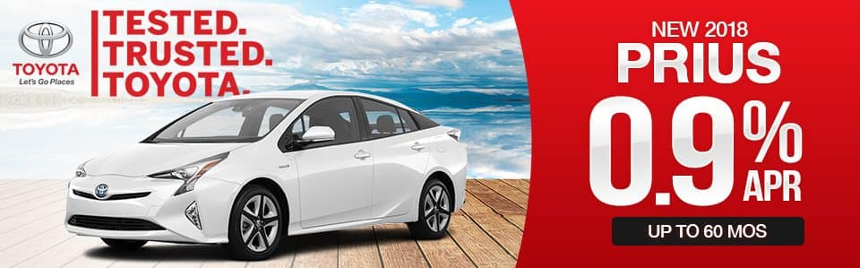 2018 Toyota Prius Finance Special