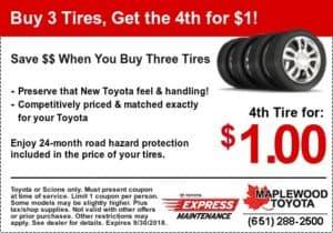 toyota coupon tires