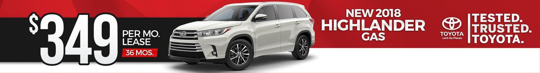 Toyota-Highlander-Lease-Special
