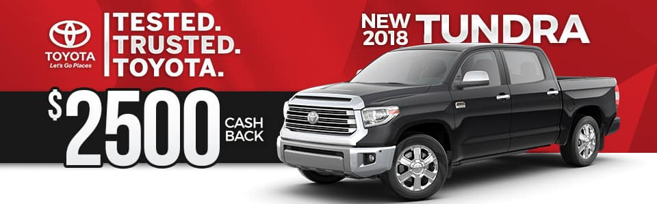 2018 Toyota Tundra Cash Back Special