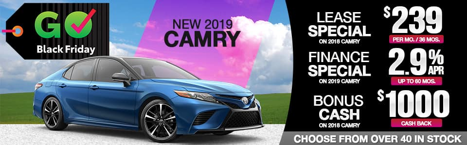 2019 Camry Lease, Finance & Cash Back Black Friday Special