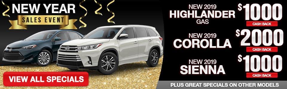 New Toyota Sales Specials