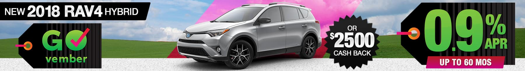 2018 Toyota RAV4 Hybrid APR or Cash Back Special