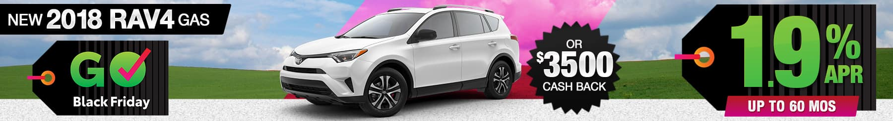 2018 Toyota RAV4 APR or Cash Back Special
