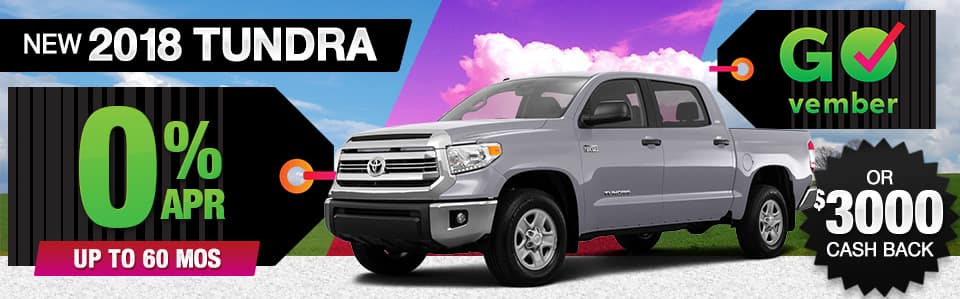 2018 Toyota Tundra APR or Cash Back Special