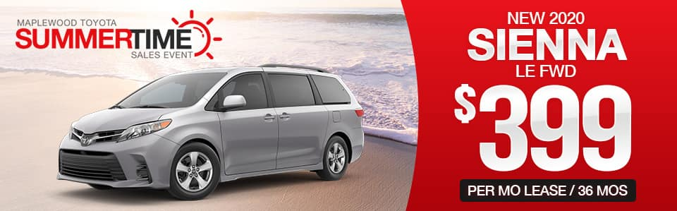 2020 Toyota Sienna Lease Special