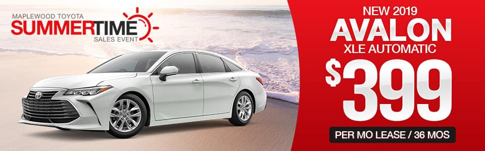 2019 Toyota Avalon Lease Special
