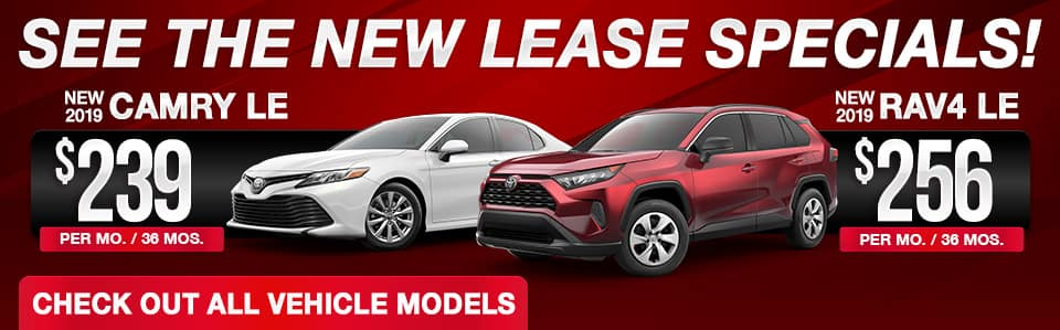 2019 Toyota Lease Specials