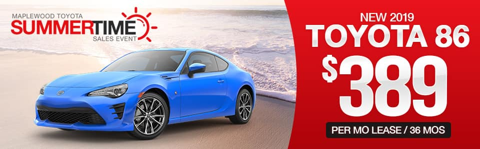 Toyota 86 Lease Special
