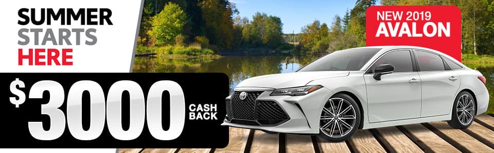 2019 Toyota Avalon Cash Back Special