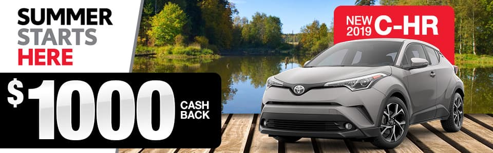 2019 C-HR Cash Back Special