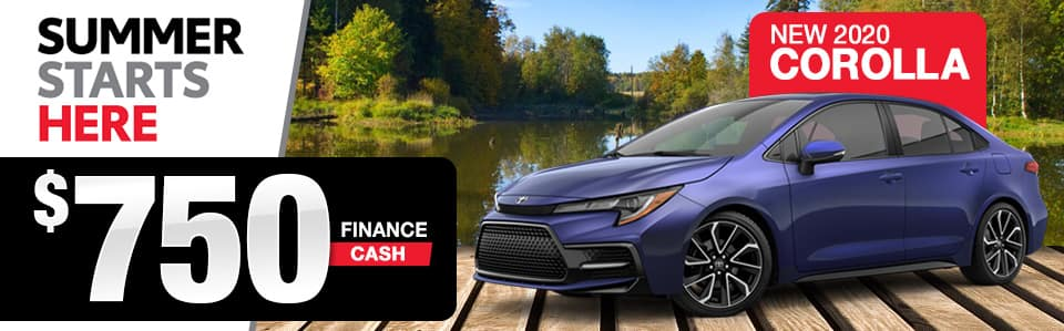 2020 Toyota Corolla Cash Back Special