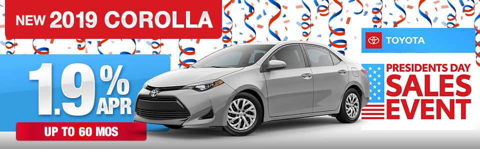 2019 Toyota Corolla Finance Special
