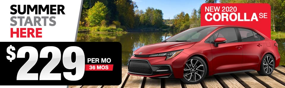 2020 Toyota Corolla Lease Special