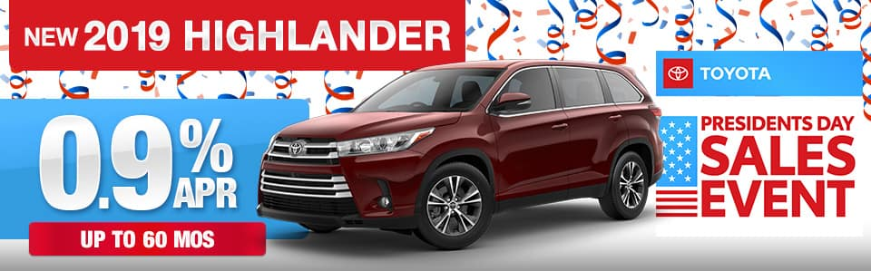 2019 Toyota Highlander Finance Special