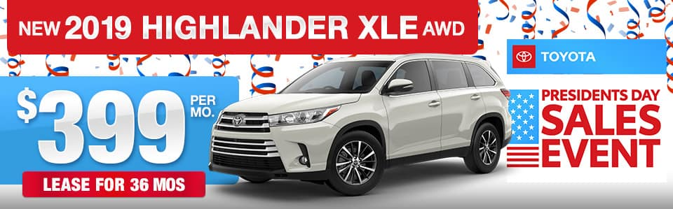 2019 Toyota Highlander Lease Special