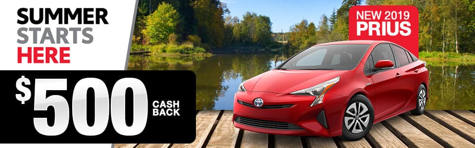 2019 Toyota Prius Cash Back Offer
