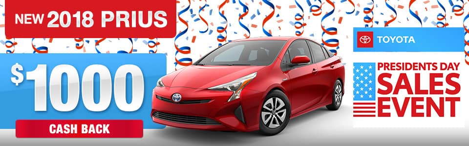 2018 Toyota Prius Cash Back Offer