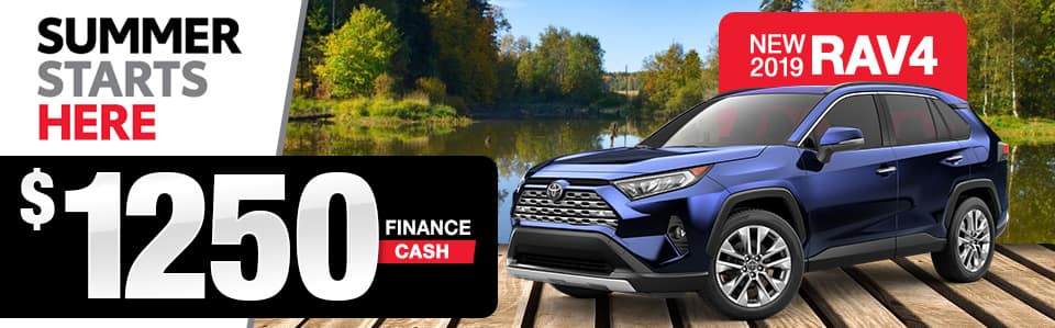 Toyota RAV4 Cash Back Special