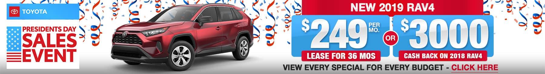 Toyota RAV4 Lease Finance Specials
