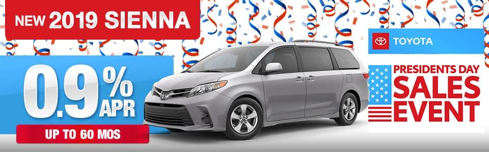 2019 Toyota Sienna Finance Offer