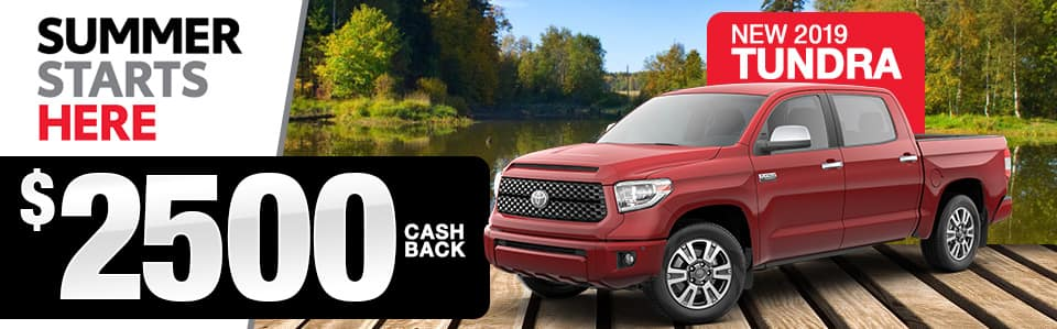 2019 Toyota Tundra Cash Back Special