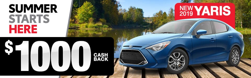2019 Toyota Yaris Cash Back Special