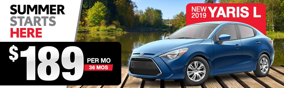 2019 Toyota Yaris Lease Special