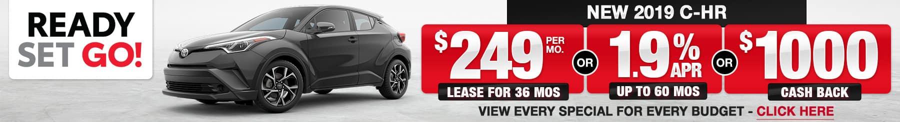 Toyota C-HR Lease Finance Specials