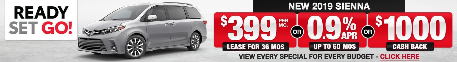 Toyota Sienna Lease Finance Specials