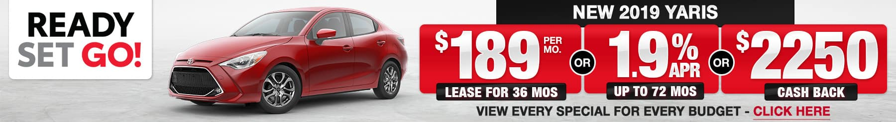 Toyota Yaris Lease Finance Specials