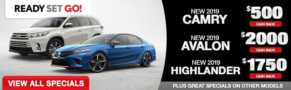 2019 Toyota-Special-CashBack-Offers