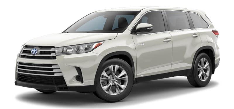 Toyota Highlander Hybrid LE Trim Model