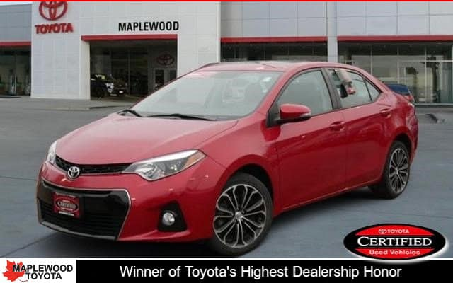 Certified Pre-Owned 2016 Toyota Corolla S Premium 4dr Car