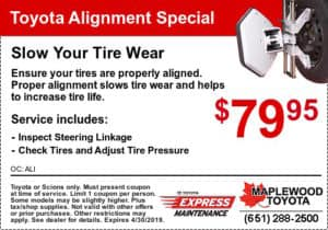 service coupon-toyota-alignment