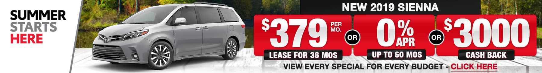 Toyota Sienna Lease Finance Specials