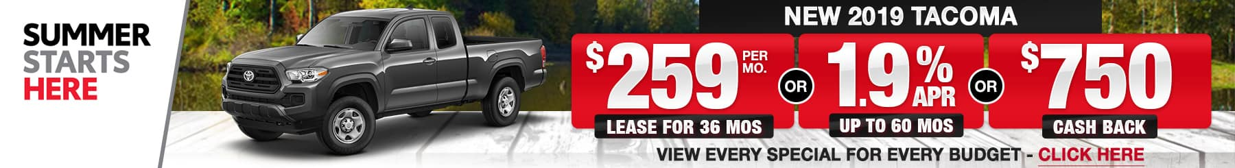 Toyota Tacoma Lease Finance Specials