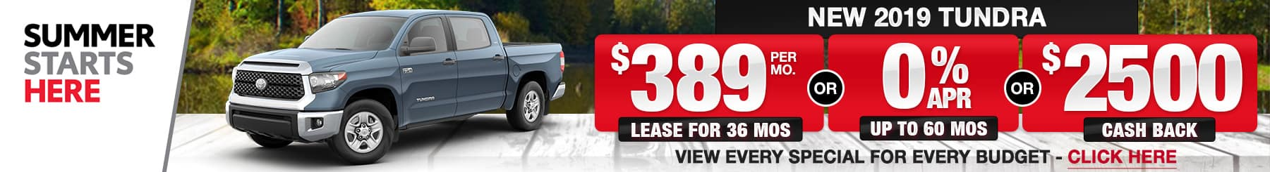 Toyota Tundra Lease Finance Specials